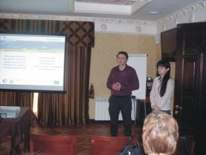 Doterajšie výsledky projektu odprezentoval p. Eugen Luksha - koordinátor projektu / Ukrajina