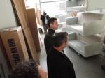 počas prehliadky podnikateľského inkubátora v SNV