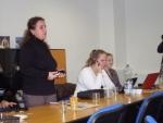 počas diskusie vystúpila p. Svitlana Hanych koordinátor projektu  (Irshava)